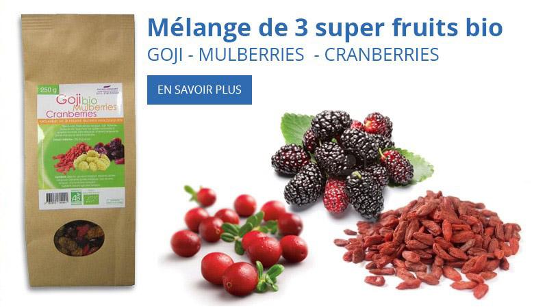 Mélange de 3 super fruits bio